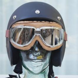Brille BANDIT braun mit verspiegelten Gläsern