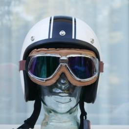 Gafas BANDIT marron con cristales epejados multicolor