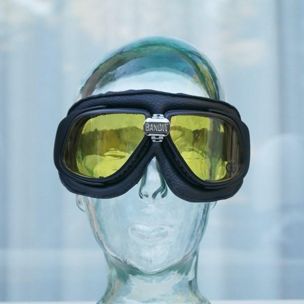 brille bandit schwarz mit gelben gl sern cascos bandit