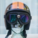 BANDIT googles black with multi colour mirrored lenses