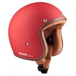 BANDIT Jet helmet Premium dull red